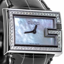 Gucci 100 Diamonds Stainless Steel & 0.70 ct. Diamonds...