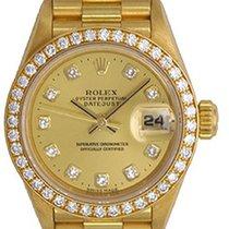 Rolex Ladies Rolex President Watch 69138 Factory Champagne...