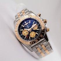 Breitling Chronomat 44 GMT 18kt gold/SS Black Dial