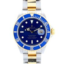 Rolex Oyster Perpetual Submariner Date Gold Steel Blue Dial 16613