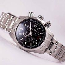 Seiko Grand Seiko Spring Drive Chronograph GMT Black Dial