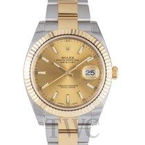 ロレックス (Rolex) Datejust 41 Champagne/18k gold 41mm - 126333