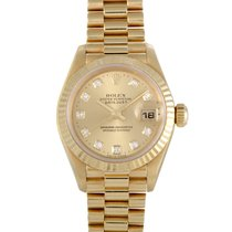 Rolex Datejust Lady Gold 26mm Fluted President 179178 chdp