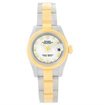 Rolex Datejust Ladies Steel Yellow Gold White Roman Dial Watch...