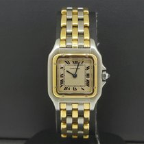 Cartier Panthere Ladies 2 tone 18k 3 Row Yellow Gold &...