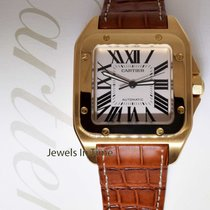 Cartier Santos 100 XL 18k Yellow Gold Mens Watch & Box...