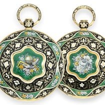 L.Leroy Pocket watch, very high quality and valuable gold/enam...