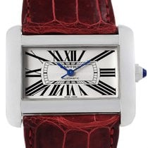 Cartier Tank Divan Xl Silver Dial Unisex Watch W6300755 Box...