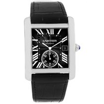 Cartier Tank Mc Black Dial Automatic Mens Watch W5330004