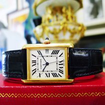 Cartier Tank 18k Yellow Solid Gold Men's Watch Ref: 2441