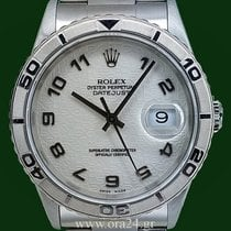 Rolex Datejust 16264 Turn O Graph 36mm 18k White Gold Bezel...