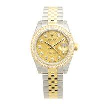 Rolex Lady Datejust Gold Steel Diamond Gold Automatic 179383JCH