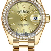Rolex Lady Datejust 28mm Yellow Gold 279138RBR Champagne Index...