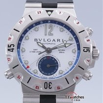Bulgari Diagono Scuba Gmt 3 Time Zone Box Papers
