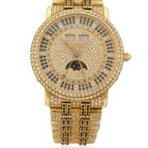 Blancpain Yellow Gold Moonphase with Sapphires & Diamonds