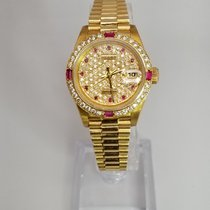 Rolex Lady-Datejust diamond dial and a diamond and ruby bezel