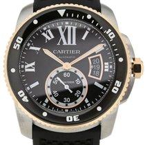 Cartier W7100055 Calibre Black Dial Automatic Diver Men's...