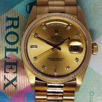 Rolex Day-Date President 18k Yellow Gold Champagne Diamond...