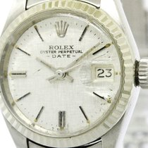 Rolex Vintage Rolex Oyster Perpetual Date White Gold Steel...
