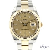 Rolex Datejust 41 Gold/Steel Rolesor Fluted Champagne NEW