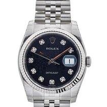ロレックス (Rolex) Datejust 36mm In Acciaio E Diamanti Ref. 116234