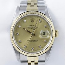 Rolex Oyster Perpetual Datejust Diamonds Gelbgold Quickset