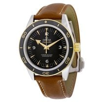 Omega 23322412101001 Seamaster Automatic Leather Men's Watch