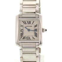 Cartier Ladies Cartier Tank Francaise 18K White Gold 2403