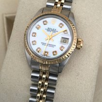 Rolex Oyster Datejust Jubilee Gold Steel Brilliant Pearl Dial...