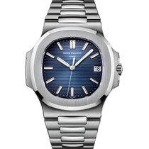 Patek Philippe Nautilus  Stainless Steel Blue Dial 5711/1A