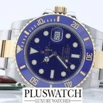 Rolex submariner 116613 116613LB STEEL GOLD blue