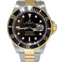 Rolex Oyster Perpetual Date Two Tone Submariner Gold In Buckle...