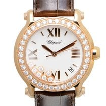Σοπάρ (Chopard) Happy Sport 18k Rose Gold White Quartz...