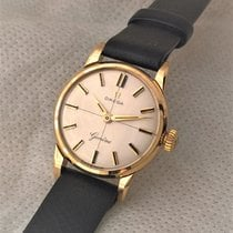Omega solid 9ct  golden serviced Omega in very good condition