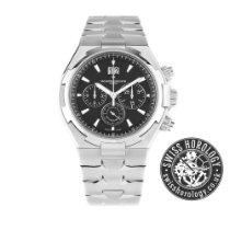Vacheron Constantin Overseas Chronograph Black Dial 49150 Steel