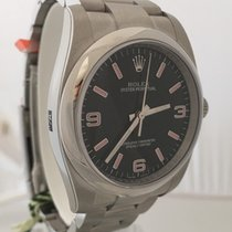 Rolex Oyster Perpetual Black dial, Pink arab