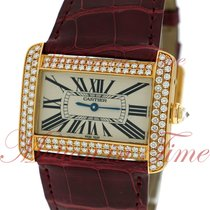 Carter Tank Divan Large Ladies, Off-White Dial, Diamond Bezel...