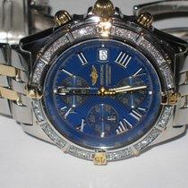 Breitling Chronomat Crosswind 18K Gold Diamonds