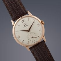 Omega 18ct rose gold manual watch