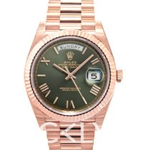 Rolex Day-Date 40 Olive Green/18k Rose Gold 40mm - 228235