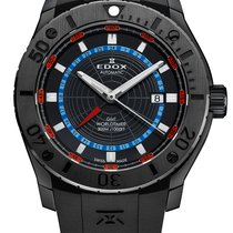 Edox .. Class-1 GMT Worldtimer 300M Diver NEW FULL SET