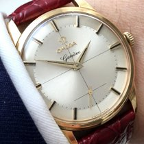 Omega Seltene Omega Geneve Pie Pan mit Onyxindices