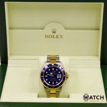 Rolex Submariner Date 16613  Two Tone YG/SS Blue Dial/Bezel