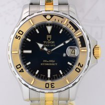Tudor Hydronaut Prince Date Stahl/Gold black Dial Diver Box...