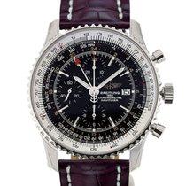 Breitling Navitimer World 46 Chronograph Black Dial Red...