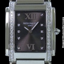 Patek Philippe Twenty 4 4910/10a Steel W/ Diamonds Rare Gray Dial