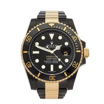Rolex Submariner Hercules Custom Gold/DLC DLC Coated Stainless...