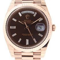 Rolex 18k Rose Gold 40mm Day Date President Chocolate Diamond...