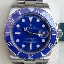 Rolex Stainless Steel Submariner 116610 Custom Blue Dial &...