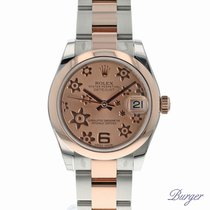Rolex Datejust 31 Rolesor Everose Oyster Pink Floral NEW